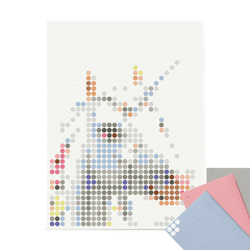 Bastelset mit Stickern | Motiv: unicorn | 30x40 cm - dot on