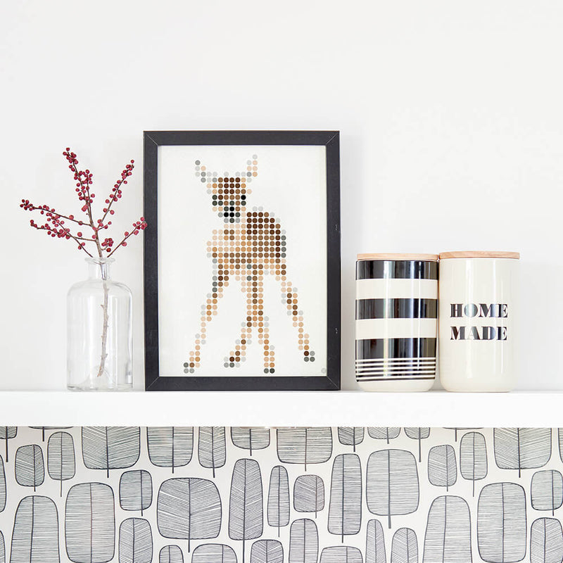 Bastelset mit Stickern | Motiv: my deer | 30x40 cm - dot on