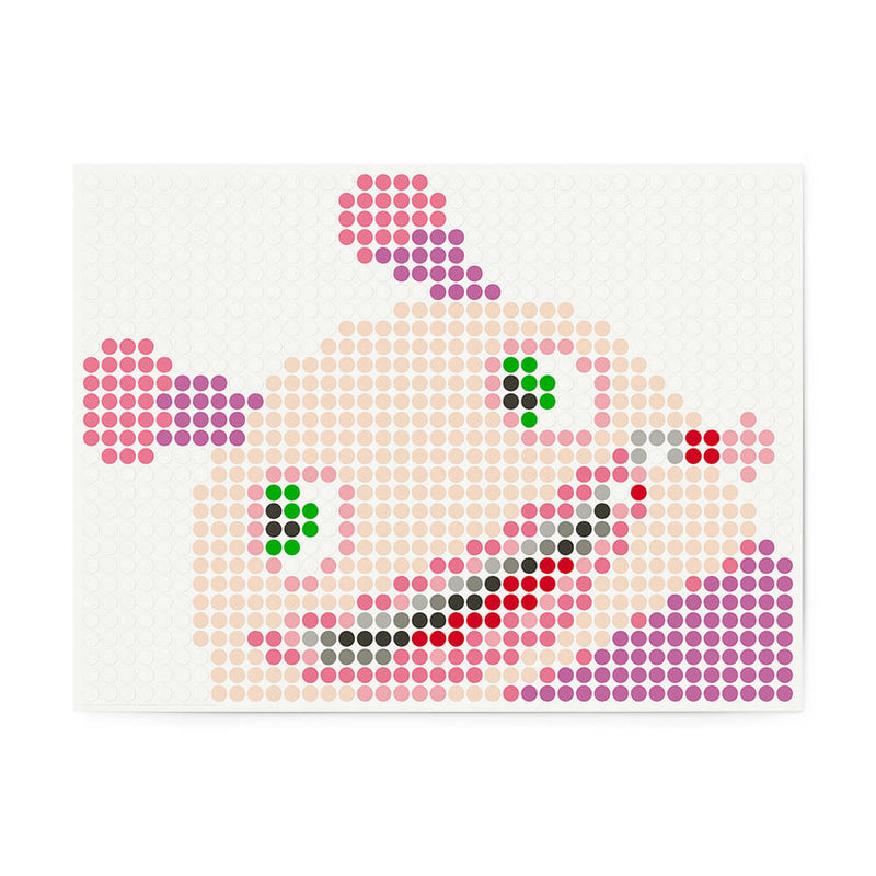 Bastelset mit Stickern | Motiv: molly | 30x40 cm - dot on