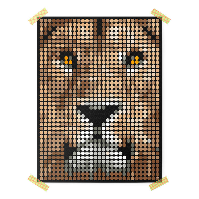 Bastelset mit Stickern | Motiv: lion | 30x40 cm - dot on