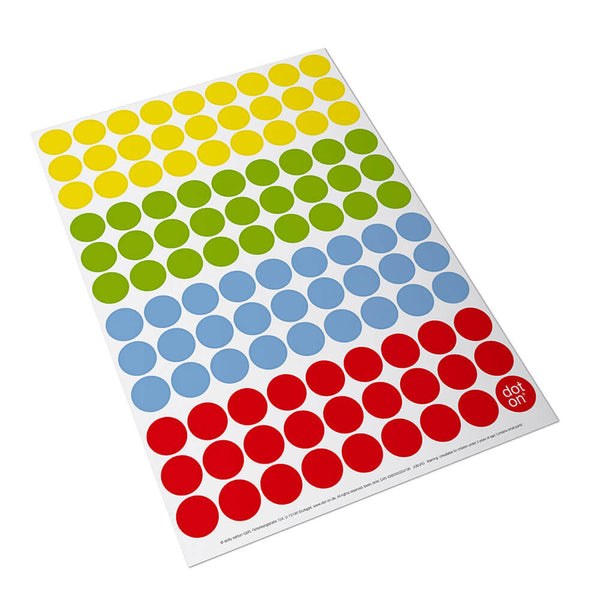 Klebepunkte basic, bunte Sticker