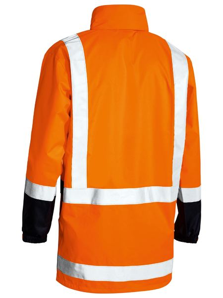 Bisley Hi Vis Taped Rain Shell Jacket