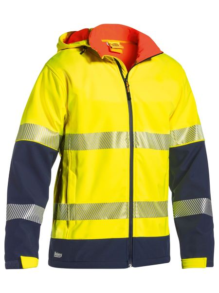 Bisley Hi Vis BioMotion Taped RipStop Bonded Fleece Jacket