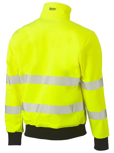 Bisley Hi Vis BioMotion Taped Soft Shell Bomber Jacket