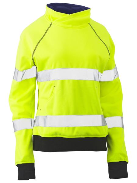Bisley Women's Hi Vis BioMotion Taped Pullover Fleece