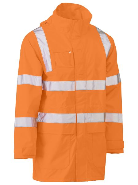 Bisley Rail Hi Vis BioMotion Taped Wet Weather Jacket
