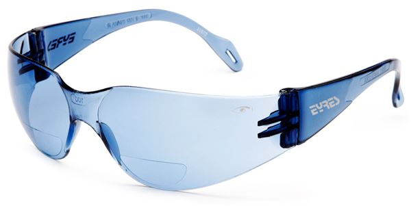 Eyres Light Blue Bifocal Reader Medium Impact Safety Glasses