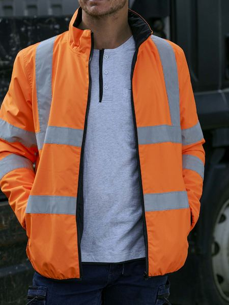 Bisley Hi Vis BioMotion Taped Reversible Puffer Jacket
