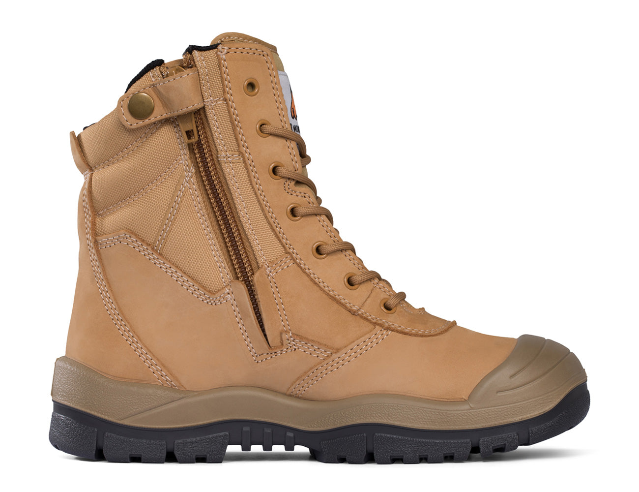 Mongrel High Leg Zip-Sider Safety Boots with Scuff Cap - 451050