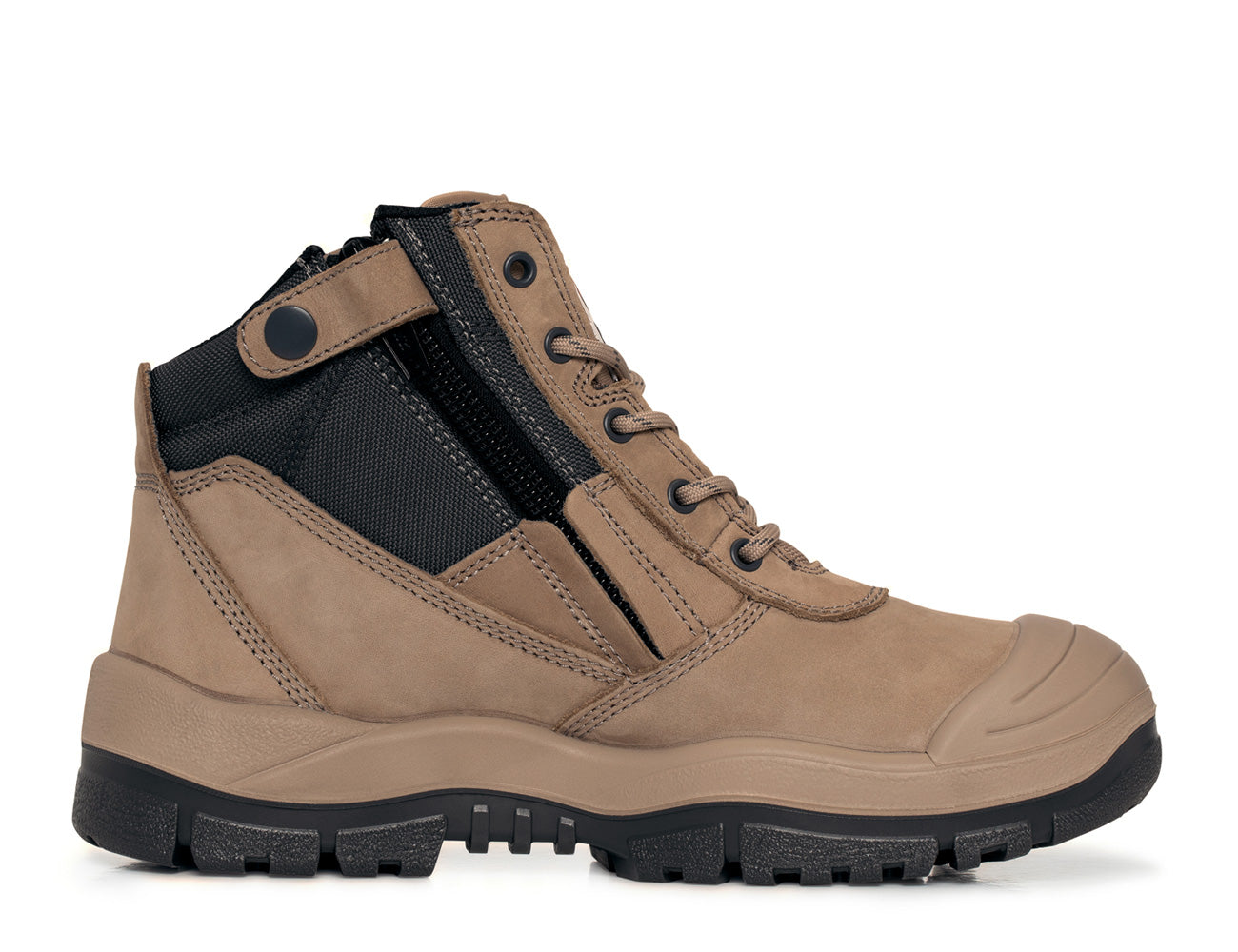 Mongrel Zip-Sider Safety Boots with Scuff Cap - 461060