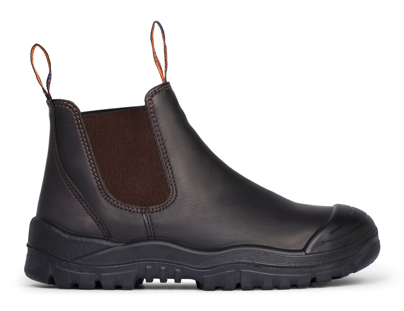Mongrel Elastic Sided Safety Boots with Scuff Cap and Rubber Outsole - 545030