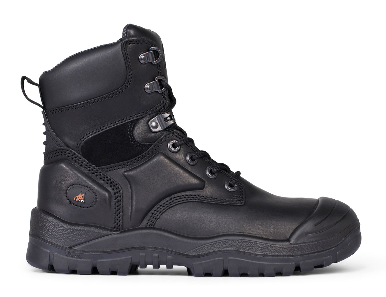 Mongrel High Leg Lace Up Safety Boots with Rubber Outsole - 550020