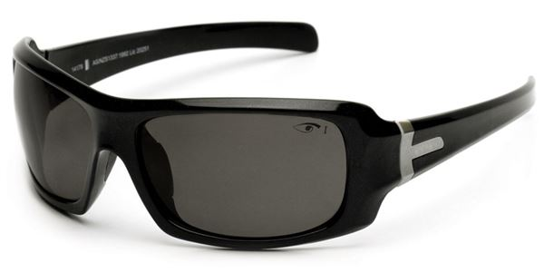 Eyres Hotrod Black Frame/Grey Flash Silver Lens Medium Impact Safety Glasses