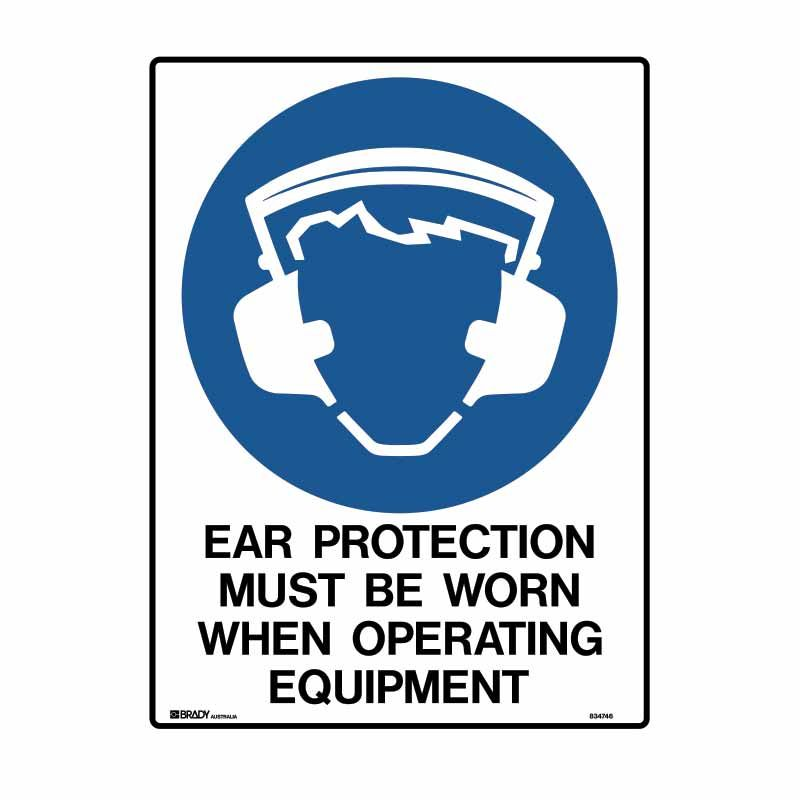 EAR PROTECTION MUST BE WORN WHEN OPERATING EQUIPMENT