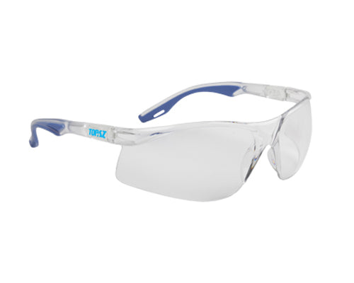 BlackChrome Topaz Medium Impact Safety Glasses