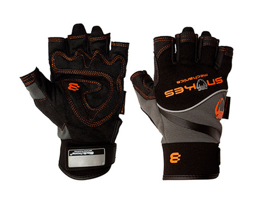 Snakes Mechanics Armorskin Padded Palm Fingerless Gloves