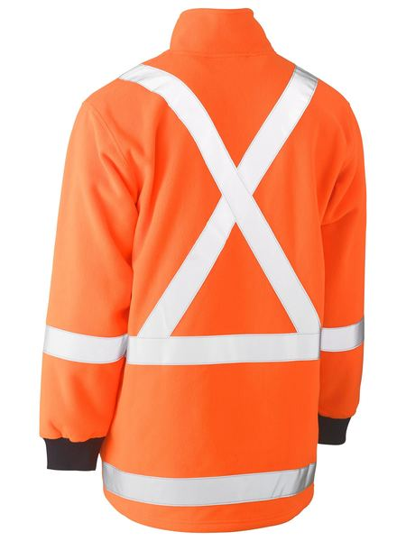 Bisley Hi Vis X-Taped Polar Fleece Jumper