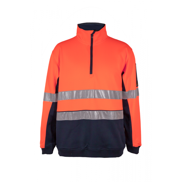 Workcraft Ridge Hi Vis Taped Half-Zip Pullover Fleece