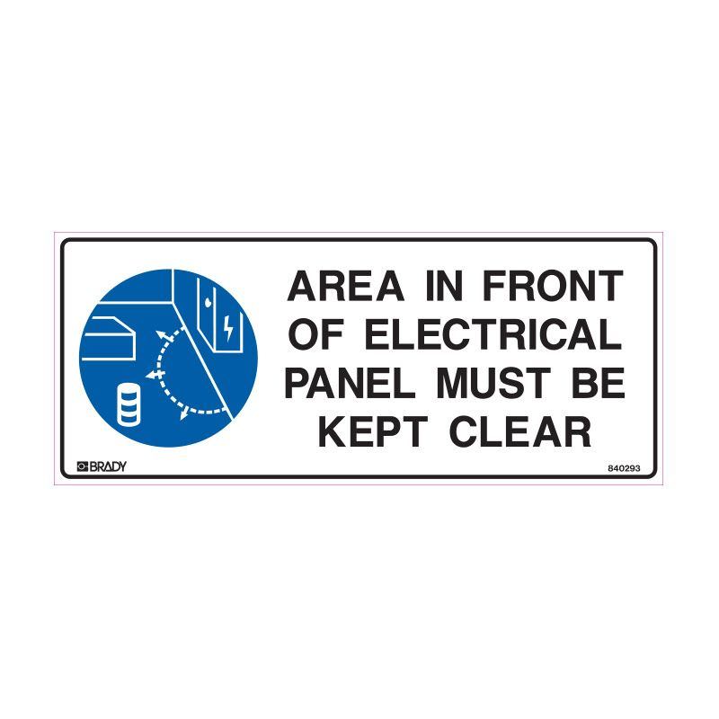 AREA IN FRONT OF ELECTRICAL PANEL MUST BE KEPT CLEAR