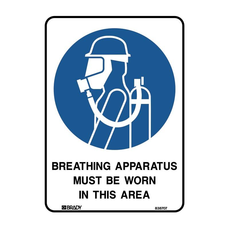 BREATHING APPARATUS MUST BE WORN IN THIS AREA