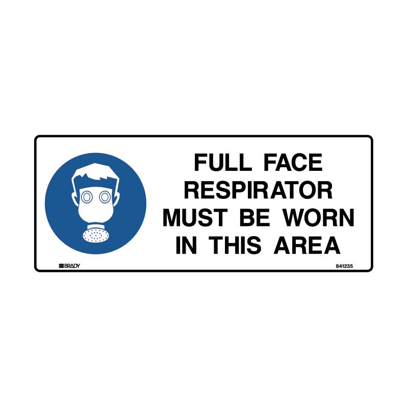 FULL FACE RESPIRATOR MUST BE WORN IN THIS AREA