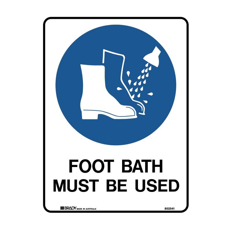 FOOT BATH MUST BE USED