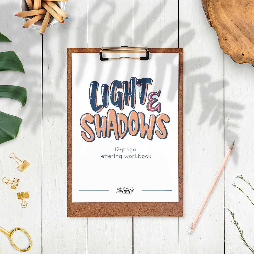 Light & Shadows Lettering Digital Workbook