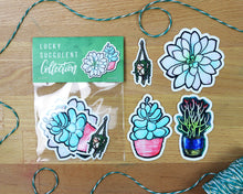 Load image into Gallery viewer, Lucky Succulent Sticker Collection (Die-Cut)
