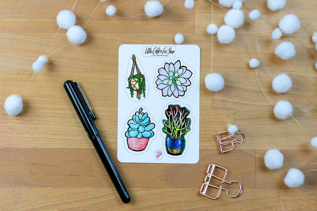 Lucky Succulent Sticker Sheet (Matte)