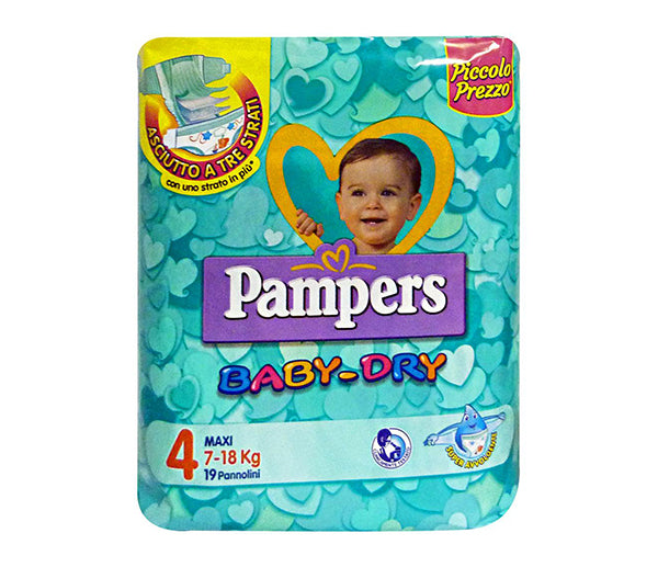 Pannolini pampers baby-dry tg. 4 19pz kg.7/18 maxi