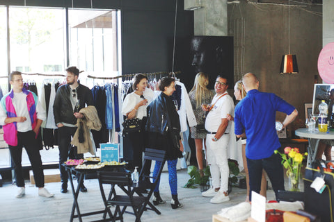 Concept Store filled with people who came for the opening