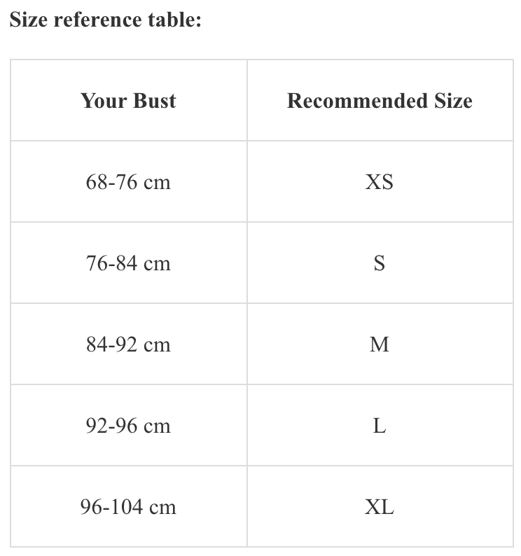 Size recommendations