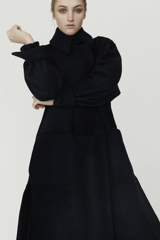 Unisex Origami Triangle Shoulder Wool Coat