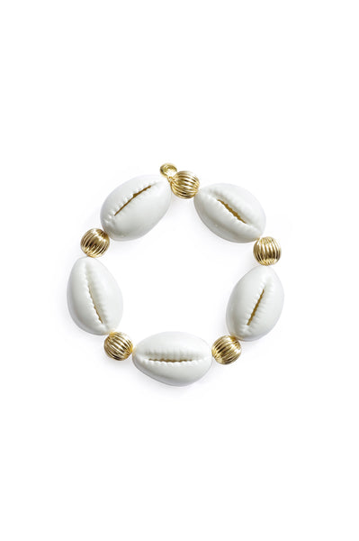 Porcelain Cowrie Shell Stretch Bracelet