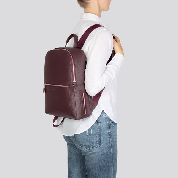 Farrell Backpack - AppleSkin™ - Burgundy