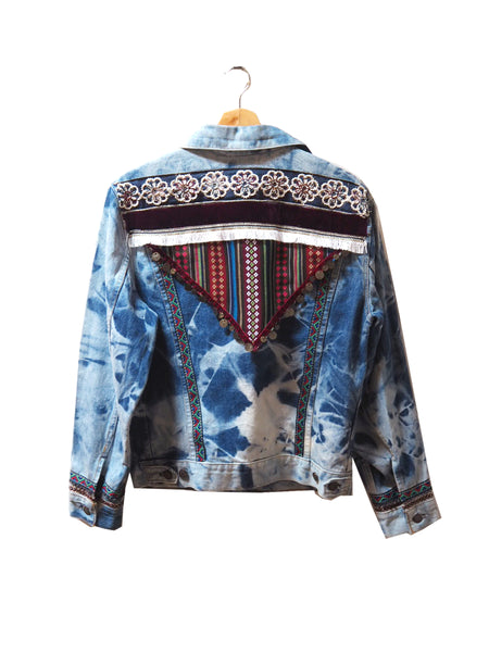 "Anyo ""Enya"" Embellished Denim Jacket"