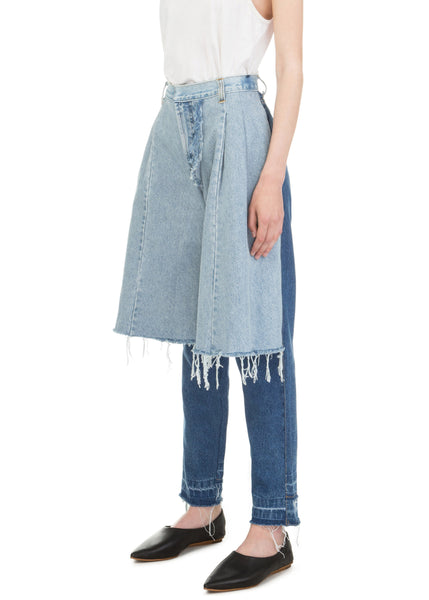 Mixed Colour Reworked Demi-Denims
