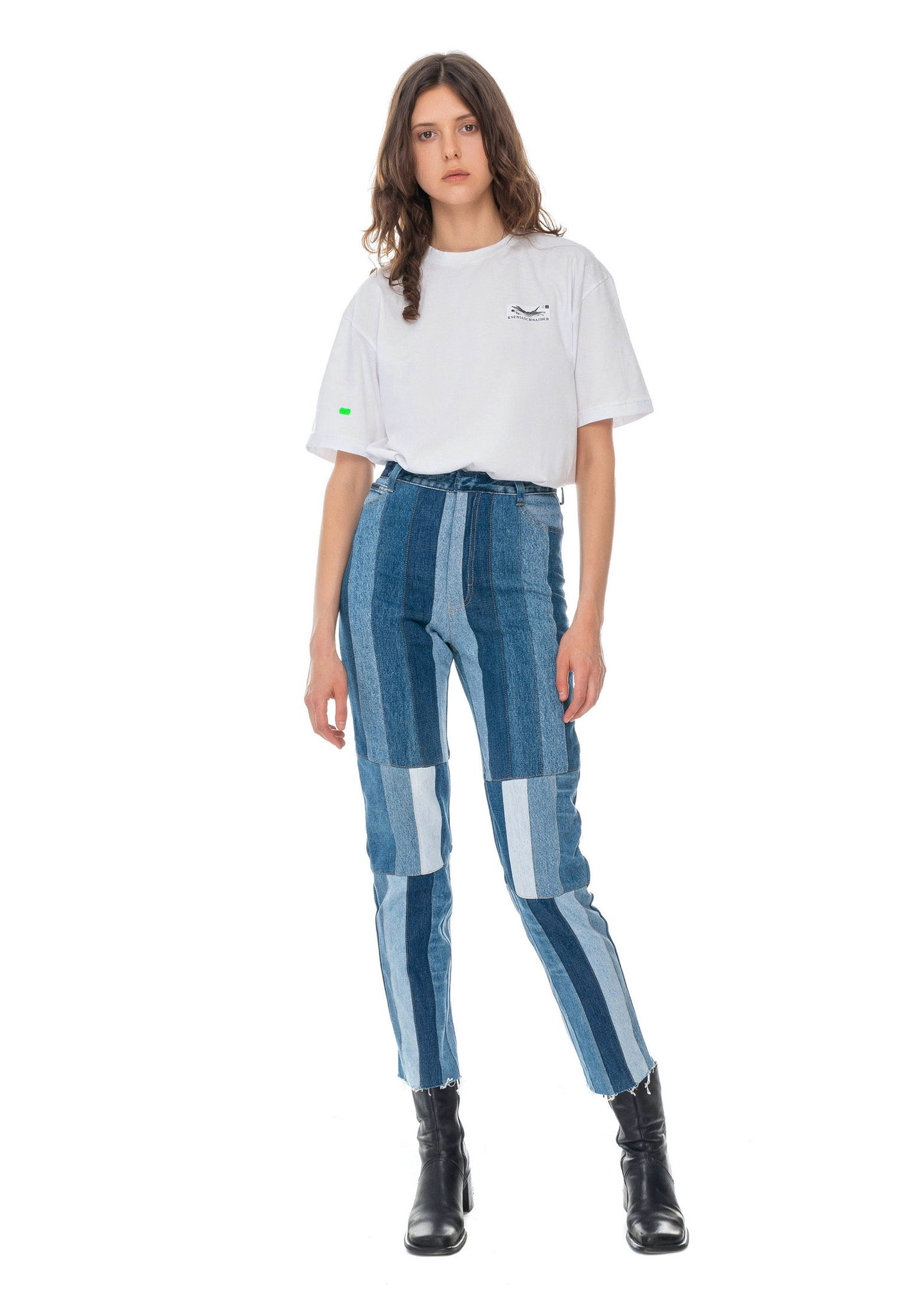 Reworked Striped Mom Jeans