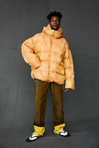 Silk Round Back Down Jacket