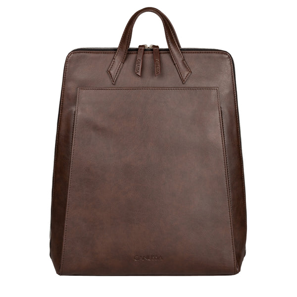 Vegan Laptop Backpack Brown