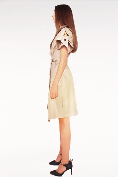 Origami Cotton Tailored Dress