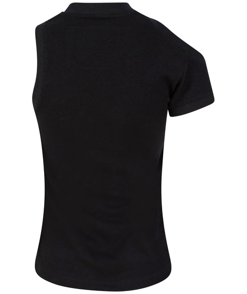 Asymmetric Jersey Top - Black