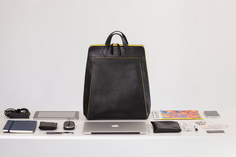 Vegan Laptop Backpack Black