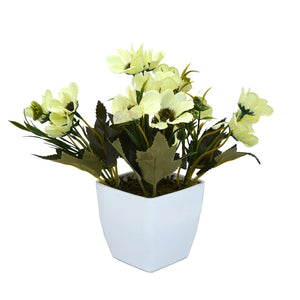 Artificial Flower Small Chrissanthemum in Ruby Pot