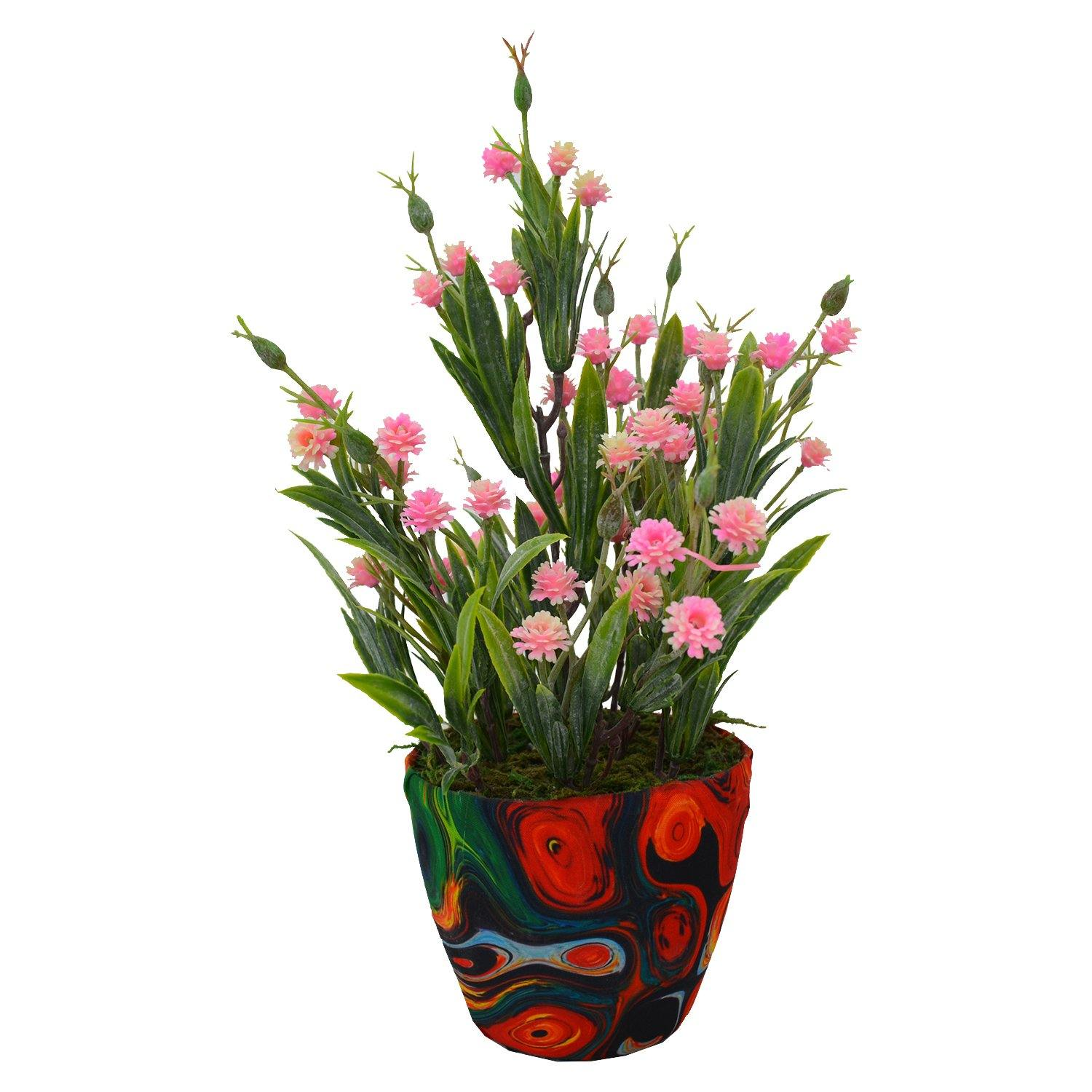 Artificial Carnation in Texture Pot - Fancy Mart