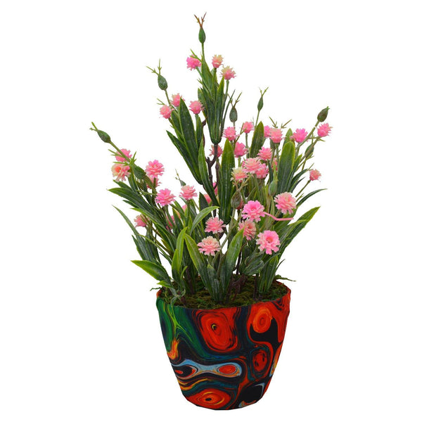 Artificial Carnation in Texture Pot