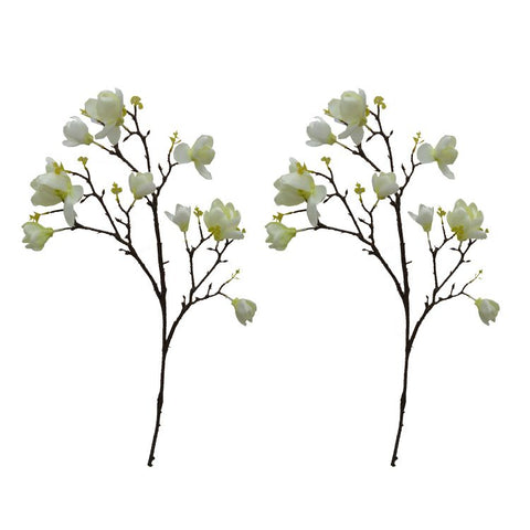 Artificial Flower Magnolia Sticks without pot (Set of 2)
