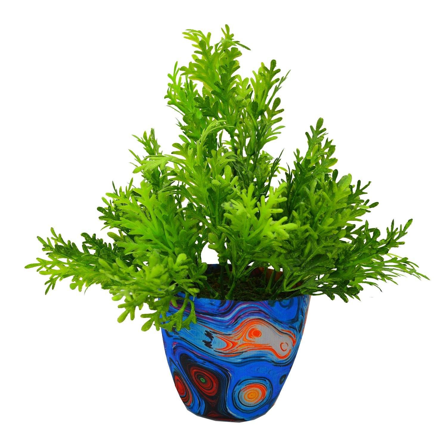 Artificial Parsley Plant in Texture Pot