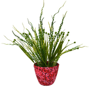 Artificial Beads Grass in Texture Pot