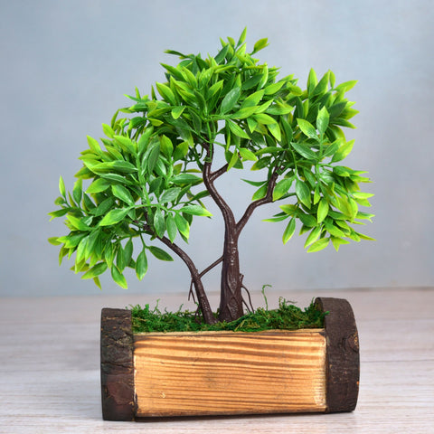 Artificial Bonsai Mix in Buckle Pot (Height : 25.5 cm)